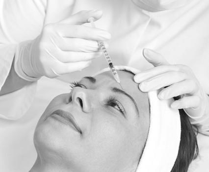 Injection de botox-front